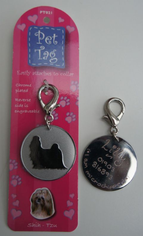 SHIH TZU DOG ID TAG -  ENGRAVED FREE